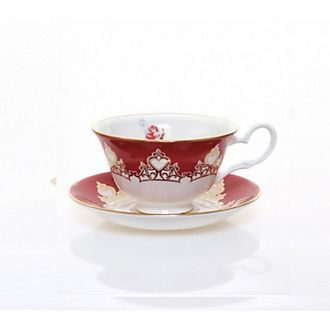 English Ladies Co. Ariel Fine Bone China Teacup and Saucer