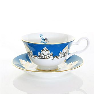 English Ladies Co. Snow White Fine Bone China Teacup and Saucer