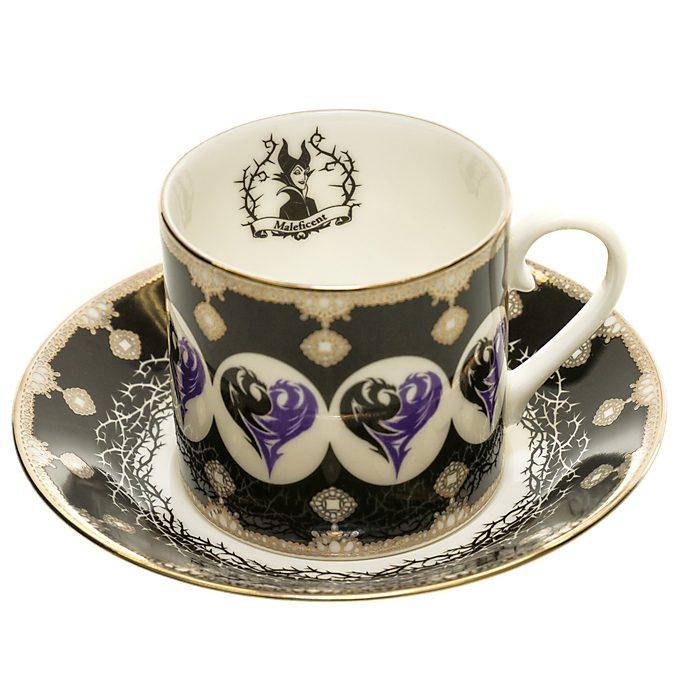 English Ladies Co. Set de taza y platito porcelana de ceniza de hueso Maléfica