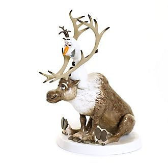 English Ladies Co. figurita porcelana fina ceniza hueso Olaf y Sven, Frozen