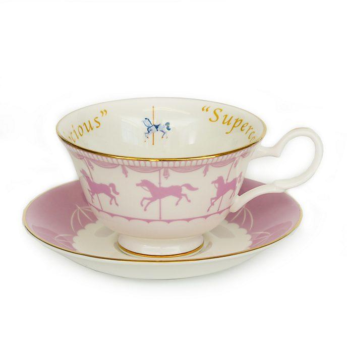 English Ladies Co. - Mary Poppins - Teetasse und Untertasse aus feinstem Porzellan mit Karussell