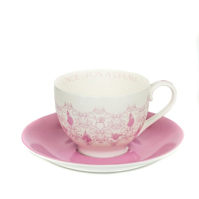 English Ladies Co. Tasse et soucoupe Aurore en porcelaine fine