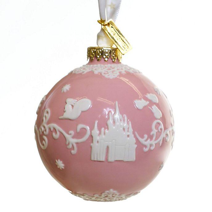 Decorazione da appendere in porcellana La Bella Addormentata rosa English Ladies Co.