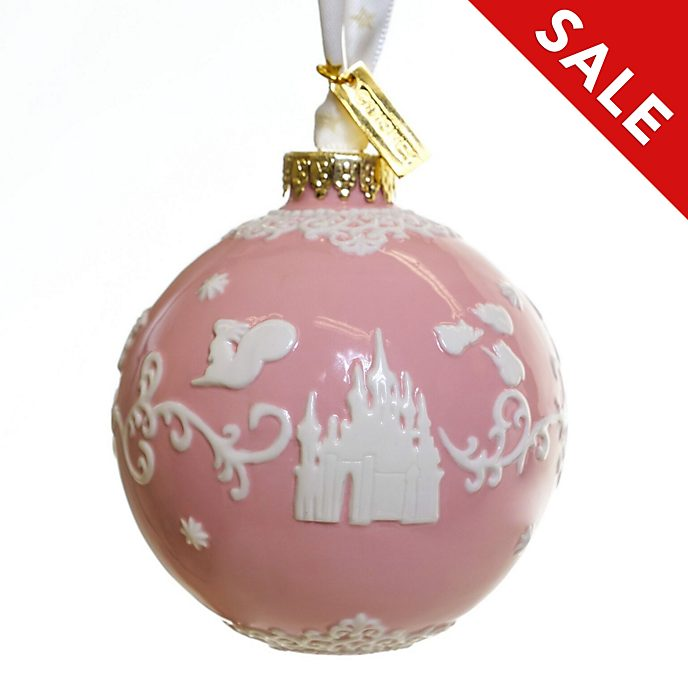 English Ladies Co. Sleeping Beauty Pink Fine China Hanging Ornament
