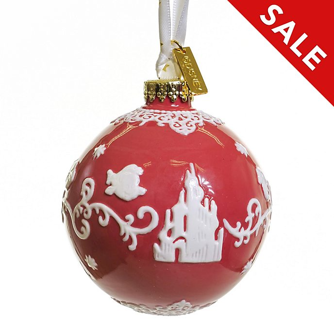 English Ladies Co. The Little Mermaid Red Fine China Hanging Ornament