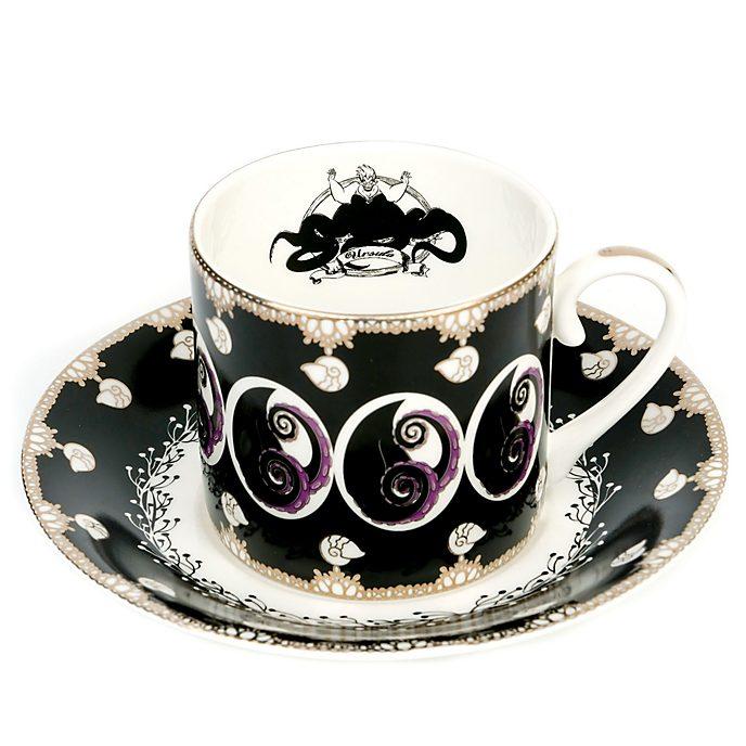 Personaggio in rilievo in porcellana Tazza da tè e piattino in porcellana fine Ursula