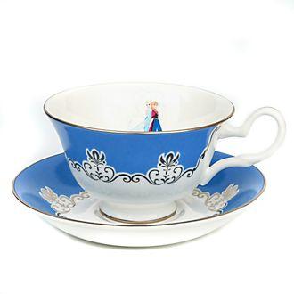 English Ladies Co.Théière et soucoupe La Reine des Neiges en porcelaine fine