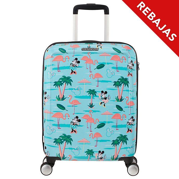 American Tourister maleta pequeña con ruedas flamenco, Minnie Mouse