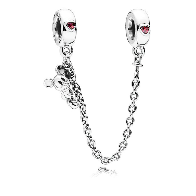Disney X Pandora Climbing Mickey Safety Chain Charm
