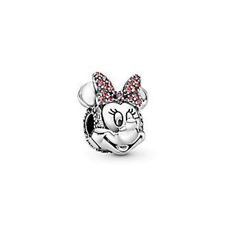 Disney X Pandora Minnie Mouse Pink Pavé Bow Clip Charm