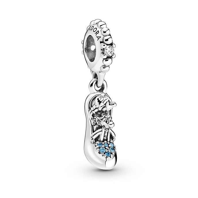 Disney X Pandora Cinderella Glass Slipper & Mice Dangle Charm