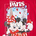 T-Shirt pour adultes Mickey et Minnie Mouse Souvenir Disneyland Paris