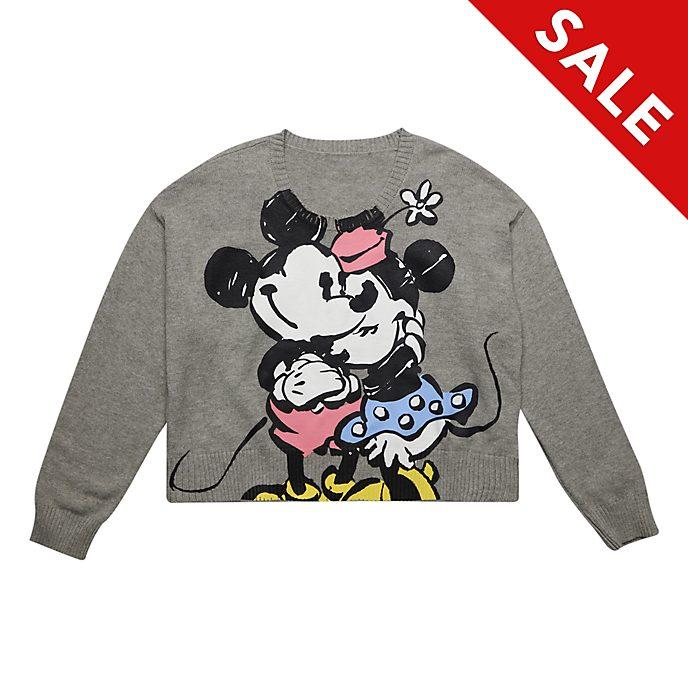 Disneyland Paris Mickey and Minnie Grey Jumper For Adults