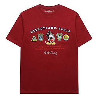 Disneyland Paris T-shirt logos Mickey rouge pour adultes
