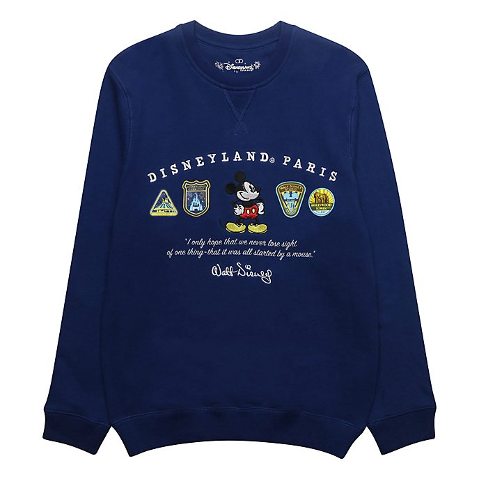 Disneyland Paris Sweatshirt logos Mickey bleu pour adultes