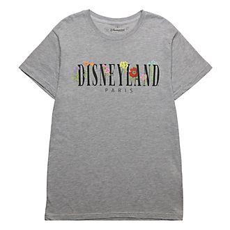 Disneyland Paris T-shirt World Flowers gris pour adultes