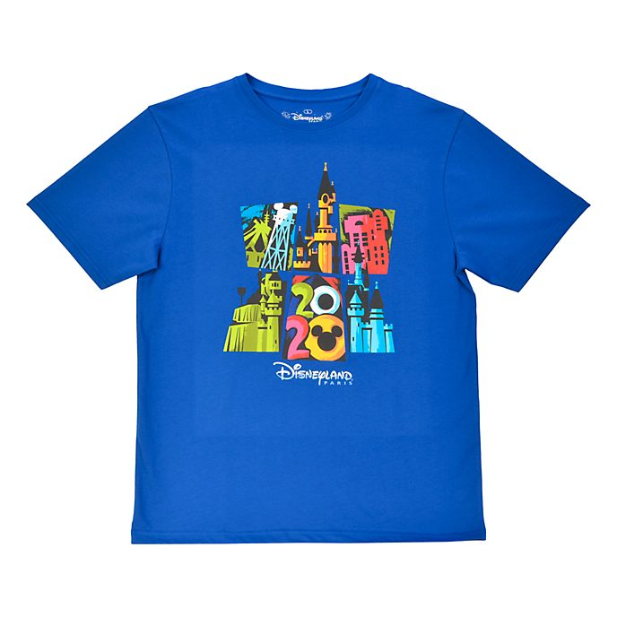 Disneyland Paris T-shirt bleu 2020 pour adultes