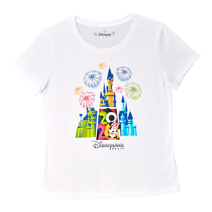 Disneyland Paris T-shirt blanc Minnie 2020 pour femmes