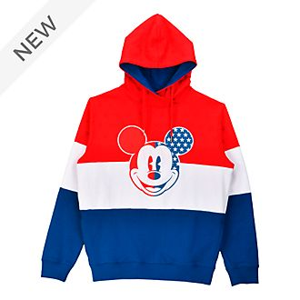 Disneyland Paris Mickey Mouse Americana Hooded Sweatshirt For Adults
