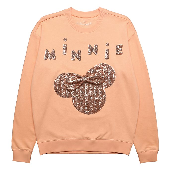 Disneyland Paris Sweatshirt Minnie bandeau rose doré pour adultes