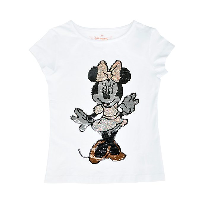 Disneyland Paris T-shirt à sequins réversibles Minnie pour enfants