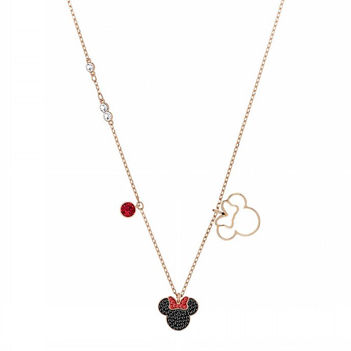 Swarovski Minnie Mouse Icon Rose Gold-Plated Necklace