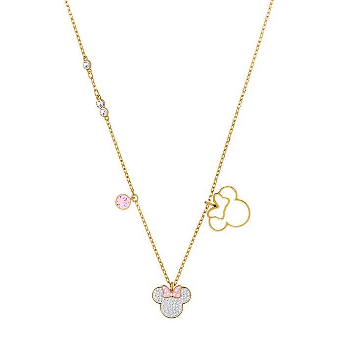 Swarovski collar bañado en oro Minnie Mouse