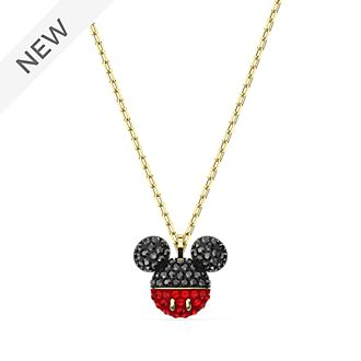 Swarovski Mickey Mouse Icon Gold-Plated Necklace