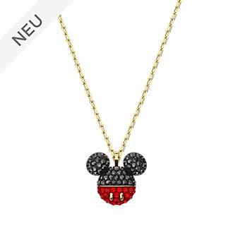 Swarovski - Micky Maus - Vergoldete Halskette mit Micky Symbol