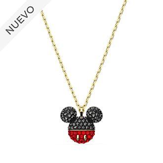 Collar bañado en oro rosa, icono Mickey Mouse, Swarovski