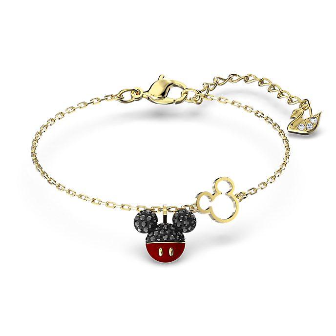 Swarovski Mickey Mouse Gold-Plated Charm Bracelet