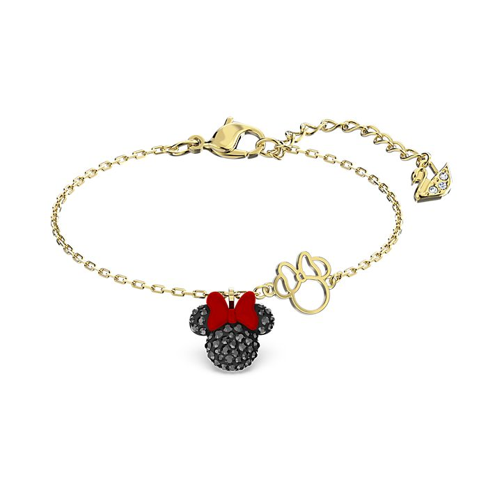 Swarovski Minnie Mouse Gold-Plated Charm Bracelet