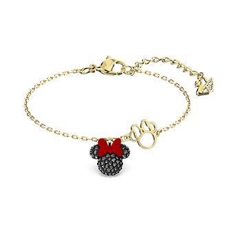 Swarovski Minnie Mouse Gold-Plated Charm Bracelet