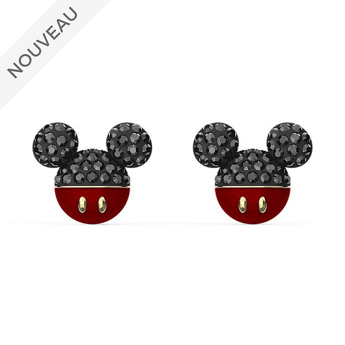 Swarovski Clous d'oreilles Tête de Mickey plaqués or