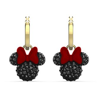 Swarovski Minnie Mouse Icon Gold-Plated Hoop Earrings