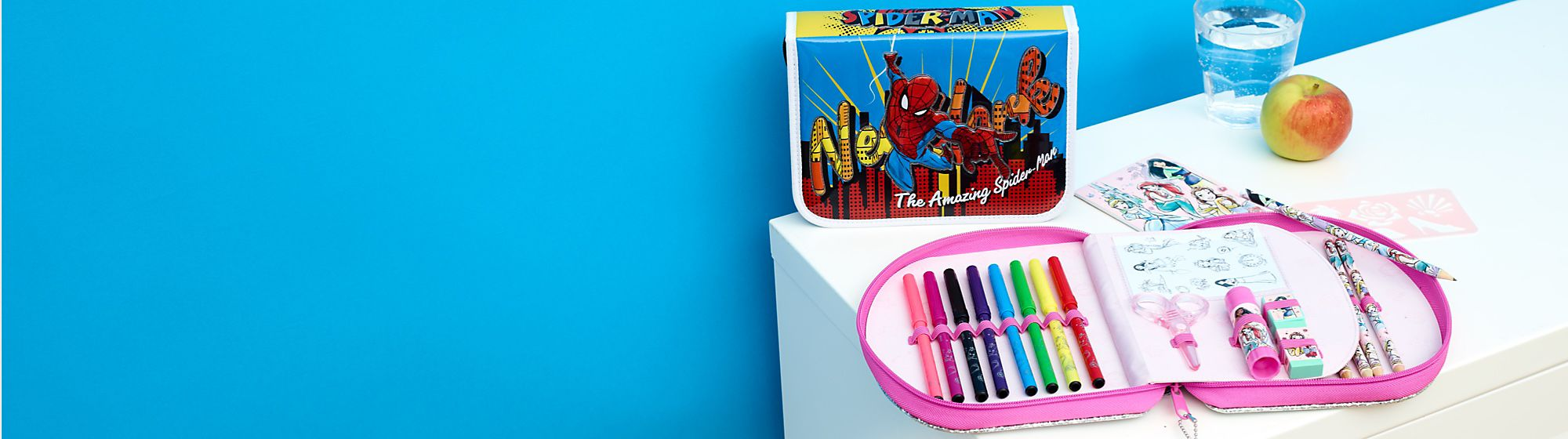 Colouring & Creativity Get creative and discover our range of colouring books and stationery sets featuring your favourite Disney, Pixar, Star Wars and Marvel characters