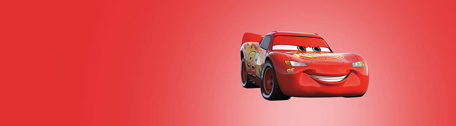 Flash McQueen Flash McQueen est l'un des héros les plus rapides ! Tous les jouets et accessoires d'école ou de fête vous donneront de l'énergie.