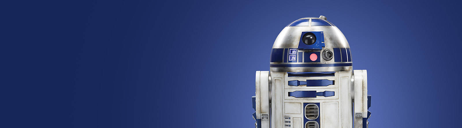 R2-D2 This is the droid you're looking for.  Discover our range of R2-D2 toys, figurines and more