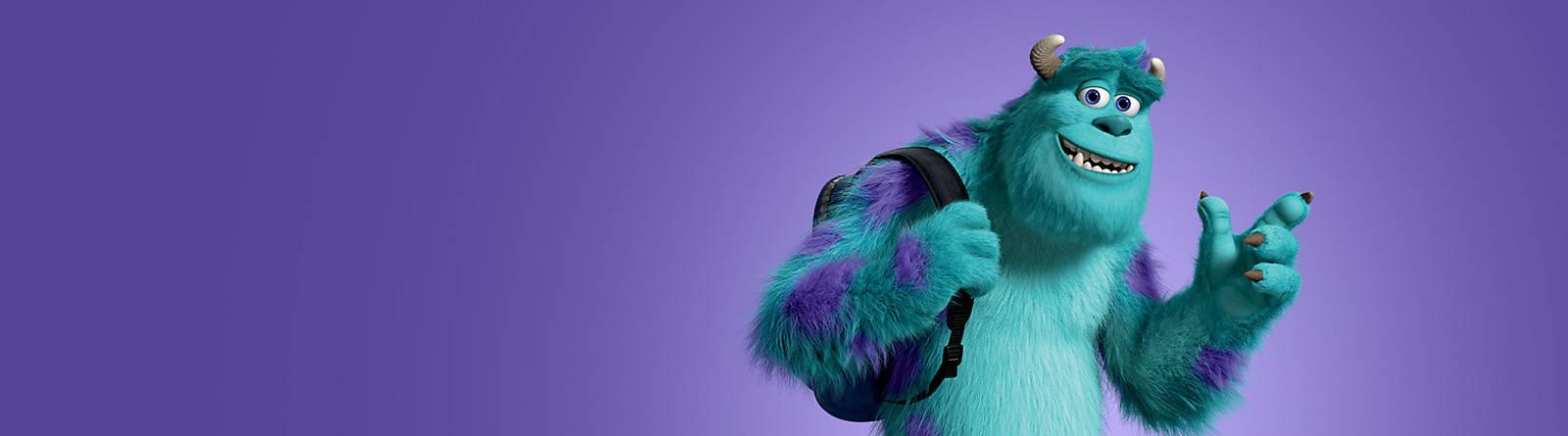 Sulley Il divertimento non finisce mai! Segui il coloratissimo Sulley di Monsters & Co. e vieni a scoprire la nostra gamma di peluche, accessori, statuette dedicato al mondo dei mostri più simpatici.